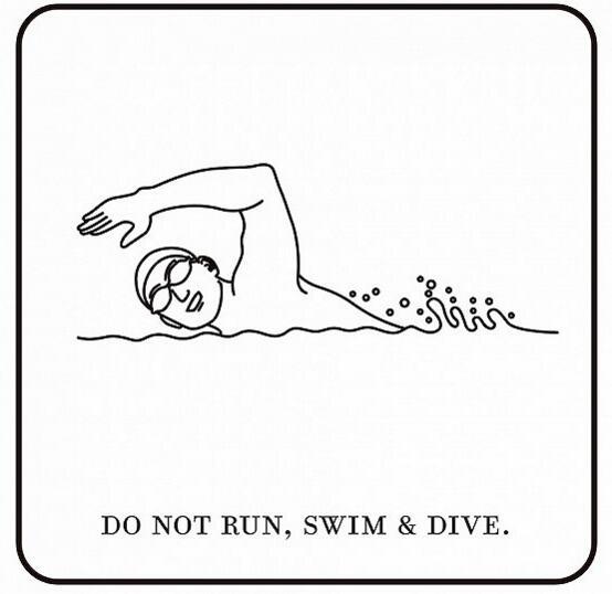 游泳图片简笔画