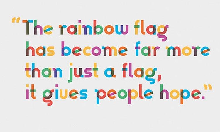 为纪念lgbtq彩虹旗设计者的逝世,这款彩虹字体诞生了