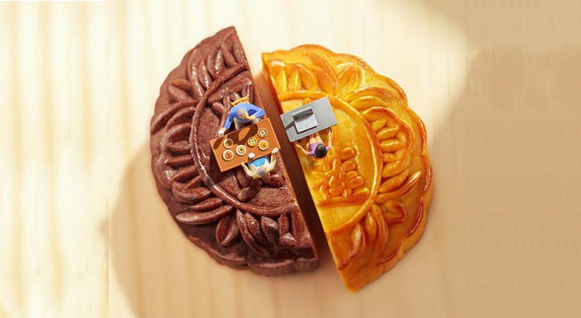 为了卖月饼,好时将甜甜的创意,可爱的风格,温暖的文案,呈现在海报中