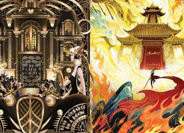 杰尔香港为企鹅图书做的插画广告太美了,细节满分