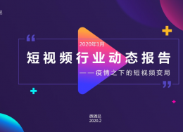 2020年1月短视频行业动态报告:用户粘性增强,线上经济爆发