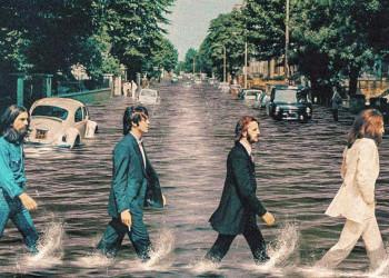 环境恶化之后,这些经典摇滚专辑封面也变了