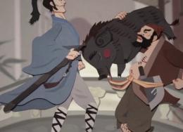 Wufangzhai Made a Chinese Traditional Paper-Cut Cartoon.