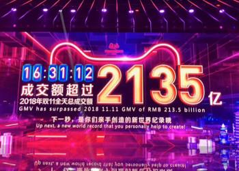 16时31分!2019天猫双十一成交额突破去年全天的2135亿