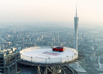 東風風光X之外創意: 440米高的停機坪,這車開上去了!